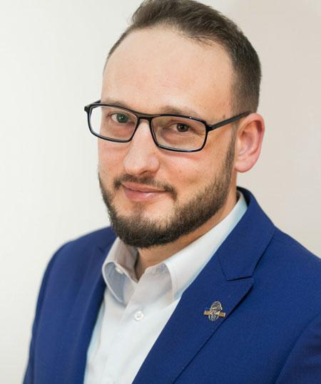 Der Vorstandsvorsitzende der WJ Bonn/Rhein-Sieg, Sergej Borkenhagen